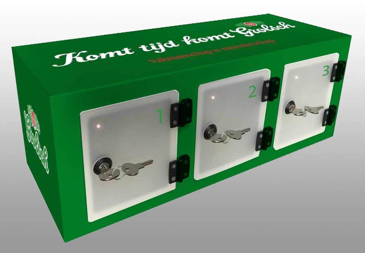 3 Locker Wall Grolsch