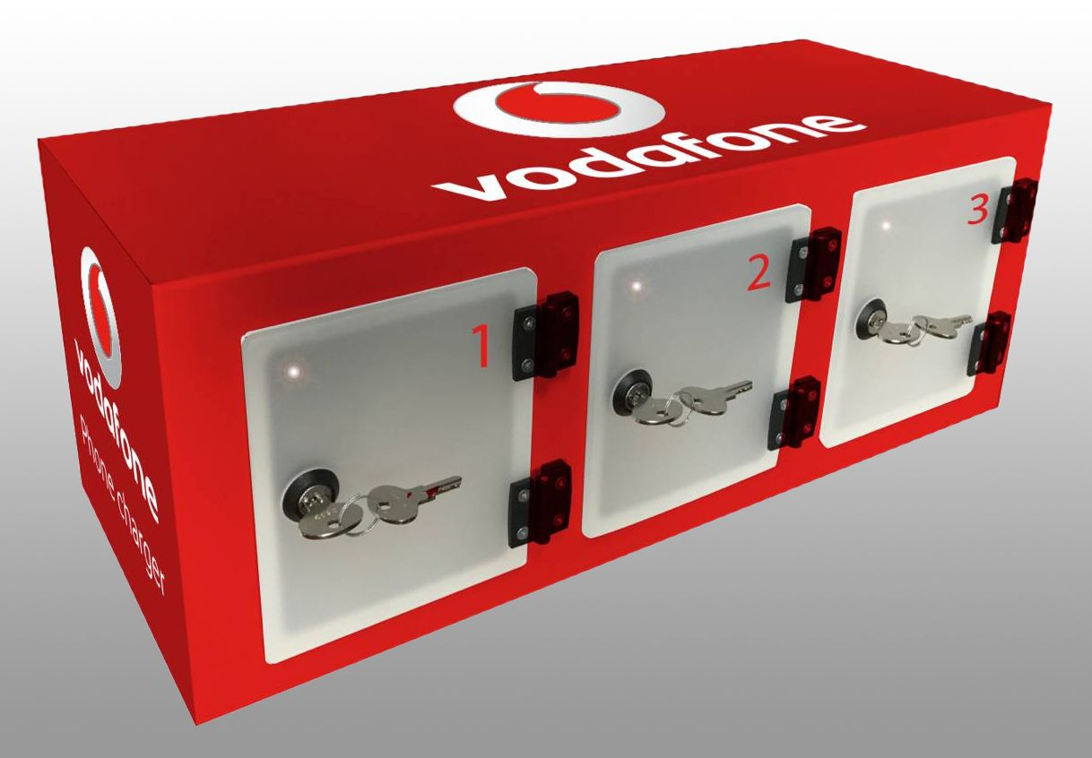 3 Locker Wall Vodafone
